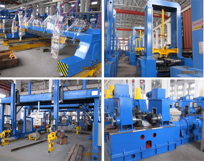 h型钢生产线钢结构厂房应用
