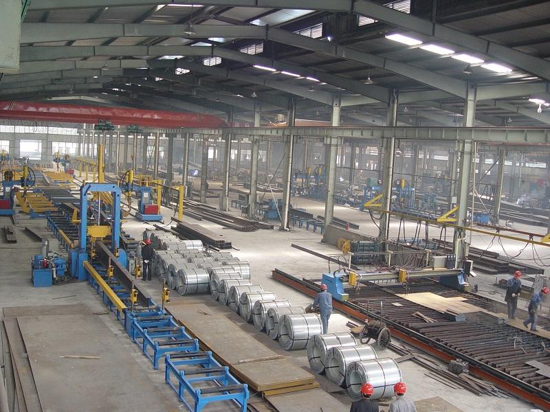 钢结构生产线生产的建筑钢结构的优势