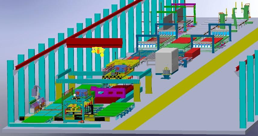 装配式钢结构剪力墙自动化生产线是国家倡导的工业化装配式绿色建筑
