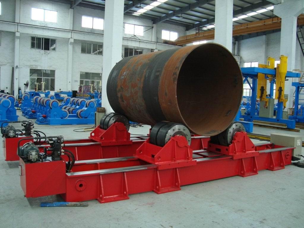 无锡有生产大型滚轮架厂家吗?我们要用于混合机滚圈